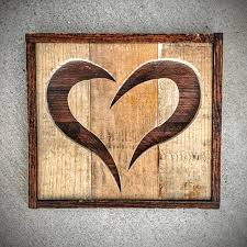 Heart Home Decor Handmade Reclaimed Rustic Pallet Wood Heart Home Decor Made To
