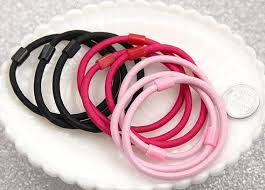 elastic hair bands 57mm blank elastic hair bands 12 pc set delish