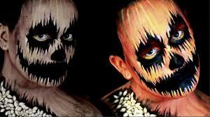 evil pumpkin halloween makeup tutorial youtube