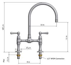Bridge Faucets For Kitchen by Steam Valve Original Deck Mount Bridge Faucets