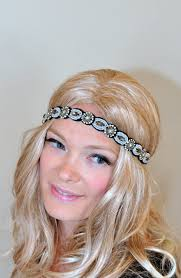 great gatsby headband 1920 s great gatsby lace headband gold rhinestone black