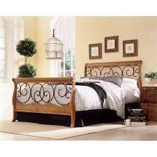 Oak Sleigh Bed Honey Oak Sleigh Bed