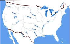 united states map with rivers and mountain ranges us mountain ranges map