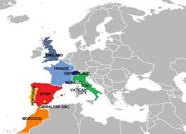 spain on a map spain europe map thefreebiedepot