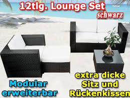 m bel balkon modulares 12tlg gartenmöbel polyrattan lounge möbel set balkon