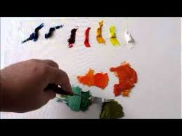 how to mix color oil painting split primary color palette youtube