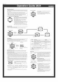 user manual for casio watch module 2634 owner u0027s guide u0026 instructions