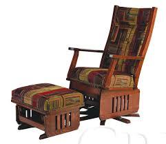 Ottoman Glider Rocker Amish Leola Mission Swivel Glider Rocking Chair In Glider Rocker
