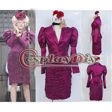 Effie Halloween Costumes Custom Hunger Games Effie Trinket Purple Dress