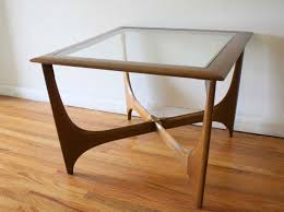 coffe table vintage lane sofa table interesting glass topped