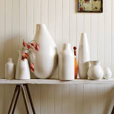 West Elm Wallpaper by Pure White Ceramic Vases West Elm Uk