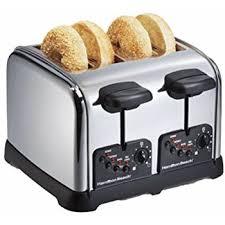 Bread Shaped Toaster Amazon Com Hamilton Beach 24502 Digital 4 Slice Toaster Kitchen