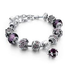 black bead charm bracelet images Crystal and flower bead charm bracelet friendship bangle various jpg
