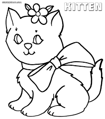 coloring pages kittens print
