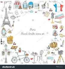 Colorado travel symbols images Set hand drawn french icons paris stock vector 346932473 jpg