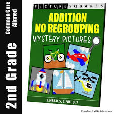 2nd grade addition no regrouping mystery pictures coloring