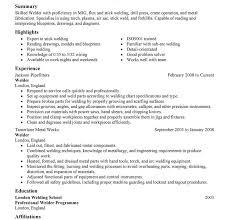 Welder Resumes Examples Extraordinary Welders Resume 4 Best Welder Resume Example Resume