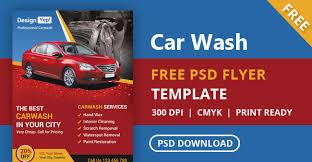 free car wash flyer psd template designyep