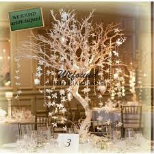 wf07092 fashion crystal silver manzanita tree wedding table