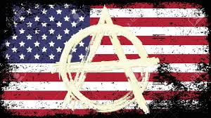 The Flag Of Usa Grunge Flag Of Usa With Sign Anarchy Royalty Free Cliparts