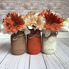 Table Centerpieces For Thanksgiving Fall Painted Mason Jars Fall Table Decor Thanksgiving