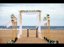 bamboo wedding arbor