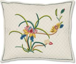 floral embroidered pillows home decorations insight
