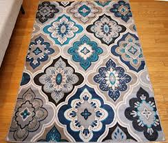 Grey Modern Rug Generations New Contemporary Panal And Diamonds Beige Navy Coral