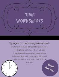 time measurement worksheets teacherlingo com