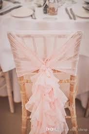 pink chair sashes in stock 2017 blush pink ruffles chair covers vintage
