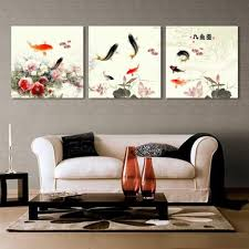 gallery canvas art large oriental canvas print wall art water lily gallery canvas art large oriental canvas print wall art water lily and goldfish painting set of 3 20 20inch ready to hang 11 09 amazon co uk kitchen