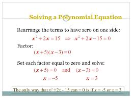 solving a polynomial equation