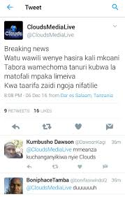 Radio Tbc Taifa Tanzania Dar Es Salaam What Happened To Clouds Media Its Not Even April 1st Also
