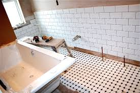 Retro Flooring by Bathroom Vintage Bath Astonishing White Bench Painted And Floor