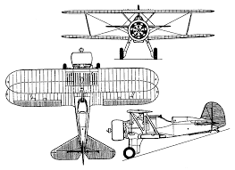 boeing xf6b 1 model 236 orthographic projection aircraft