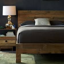 Reclaimed Wood Headboard by Emmerson Reclaimed Wood Bed Natural West Elm
