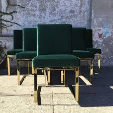 Green Velvet Dining Chairs Sunbeam Vintage Dining Chairs