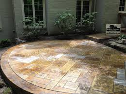 2017 Stamped Concrete Patio Cost Stone Texture Cost To Install Concrete Patio Concrete Stamped