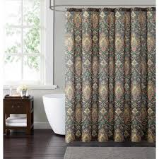 Brown And Teal Shower Curtain by Christian Siriano Java 72 In Neutral Shower Curtain Sc1803 6200