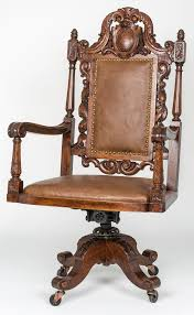 large executive leather swivel desk chair for sale at 1stdibs