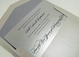 silver wedding invitations silver wedding invitations rectangle landscape silver luxurious