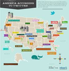 Map Of Usa Cities by Infographic A Map Of America As Created By Twitter Geotags The