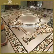 waterjet marble tile flooring medallion design floor pattern