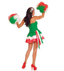 Cheerleader Flags Costume Miss Italy Italian Flag For Cheerleaders Festa Italiana