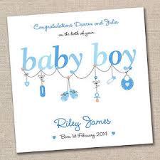 personalised new baby boy handmade greeting card congratulations