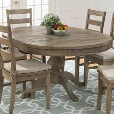 pine wood oval pedestal extendable dining table design ideas with