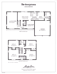 colonial plans house plan center hall colonial floor excellent georgetown