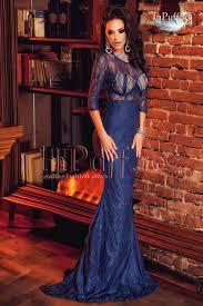 inpuff rochii rochie de seara lunga tip sirena dantela albastra rochie de seara