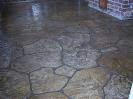 Flagstone Stamped Concrete Pictures by Decorative Concrete Floors Stamped Concrete Patio Ozark