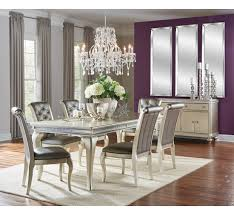 Silver Dining Table And Chairs Hefner Silver 5 Pc Dining Set Badcock U0026more
